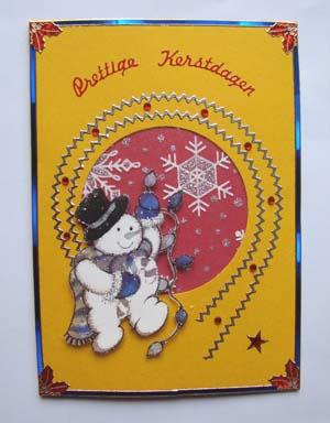 Sneeuwpop met glitter