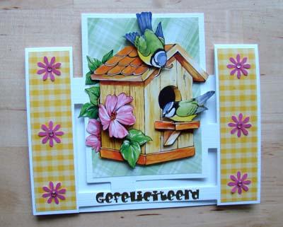 Figuurkaart vogelhuisje