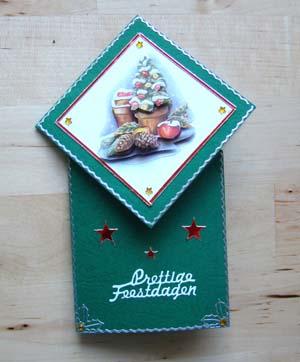Vouwkaart groen kerst