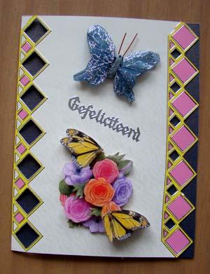 Randsticker en vlinder