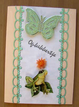 Opkikker met vlindersticker