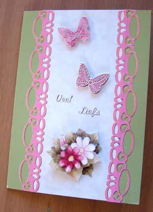 Bloemetjes met vlinderstickers