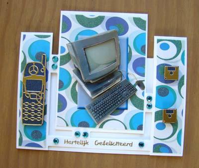 Blauwe computerkaart
