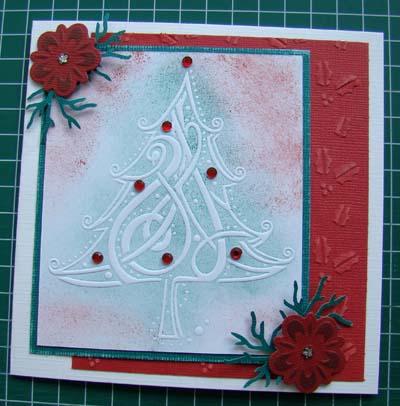 Kerstboom embos en inkt