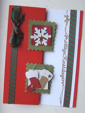 Kerst roodgroene strik