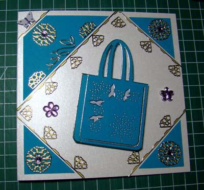 Blauwe tas sticker