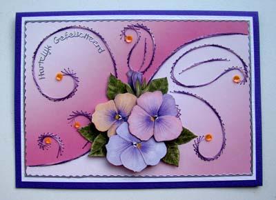 Achtergrond borduren lila roze