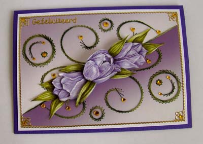 Achtergrond borduur lila