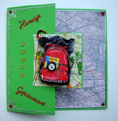 Rugzak met landkaart