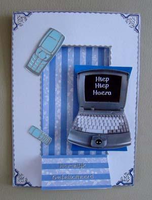 Computer en mobieltjes blauw
