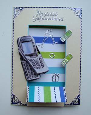 Mobieltje witte kaart