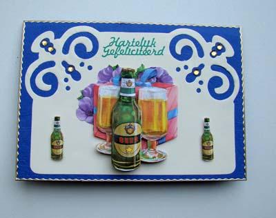 Oplegkaart met bier