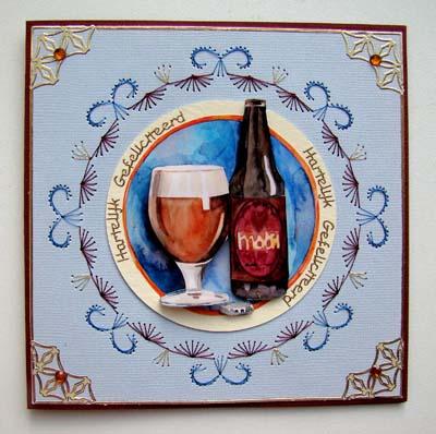 Bier met borduur
