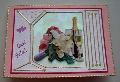 Huwelijk roze kaart