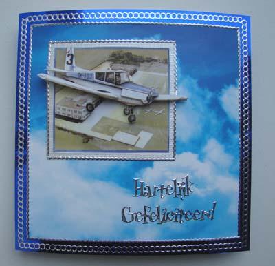 Vliegtuig blauwe spiegelkaart