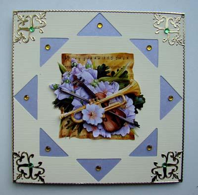 Muziekkaart lila met opleg