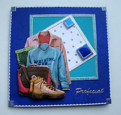 Schoenen blauwe kaart