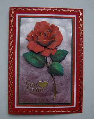 Dufez roos rode kaart