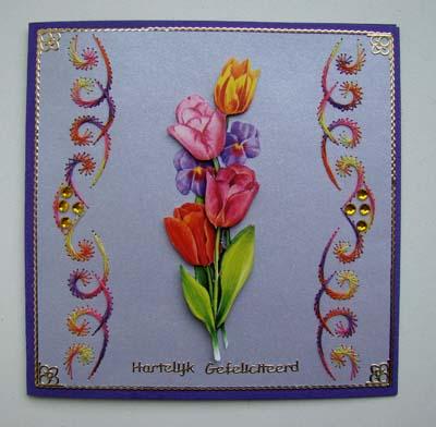 Tulpen met borduur