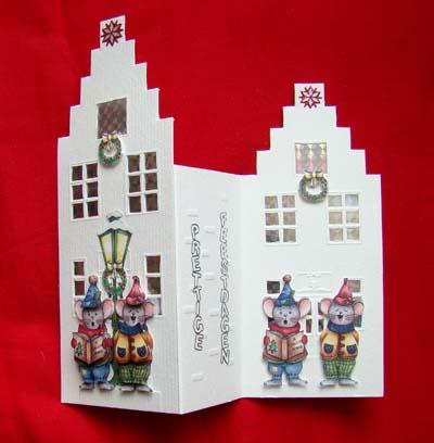 Huisjeskaart kerst