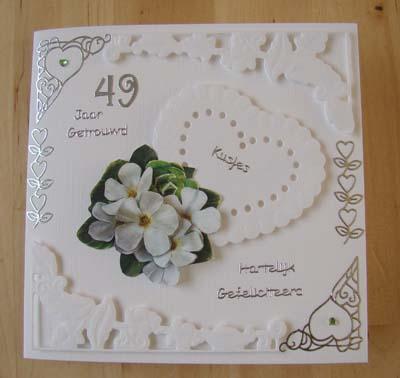 Witte kaart 49 jaar getrouwd