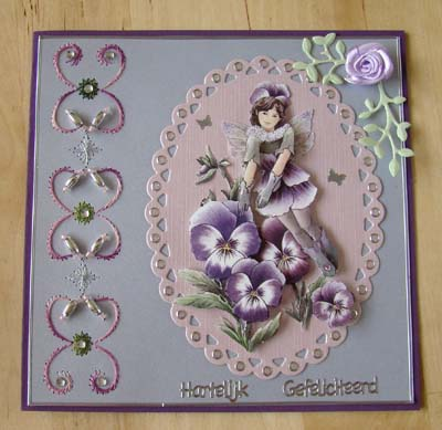Bloemenfairie met borduur